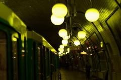 Métropolitain, station Cité -  Station Cité du métro de Paris
