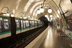 Métropolitain, station Cité -  Cité metro station, Paris.