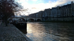 Pont Marie -  Ile Saint-Louis from the right bank of the river Seine