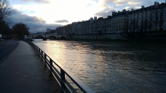 Pont Marie -  Ile Saint-Louis from the West Bank of the river Seine