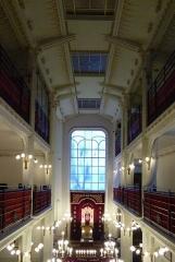 Synagogue - Deutsch: Synagoge in der Rue Pavée (Synagoge Agoudas Hakehilot) im 4. Arrondissement von Paris, Innenansicht