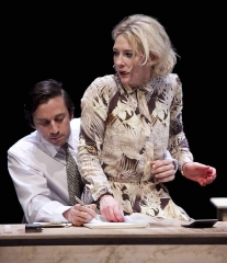 Théâtre de la Ville - English: Richard Pyros and Cate Blanchett in Big and Small at Théâtre de la Ville, Paris.
