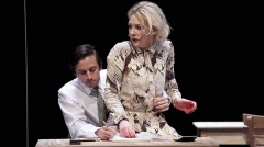 Théâtre de la Ville - English: Richard Pyros and Cate Blanchett in, Big and Small̈(germanː Groß und klein), play by Botho Strauß,  at Théâtre de la Ville, Paris.