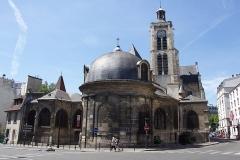 Eglise Saint-Laurent - Français:   Photo du chevêt de l\'église Saint-Laurent (Paris 10ème)