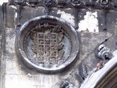 Eglise Saint-Laurent - Français:   Symbole de Saint Laurent sur l\'Église Saint-Laurent (Paris).