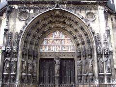Eglise Saint-Laurent - Français:   Portail de l\'église Saint-Laurent (Paris), refait entre 1863 et 1867.