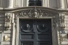 Maison, ancien hôtel Titon - Deutsch: Hôtel Titon, Rue du Faubourg Poissonnière n° 58, im 10. Arrondissement von Paris (Île-de-France/Frankreich), Hauseingang