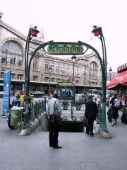Métropolitain, station Gare du Nord -  Metro Station at Paris Gare du Nord