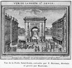 Porte Saint-Denis - Cabanès, Éducation de Princes021 Vue de la Porte Saint-Denis (F.Blondel, Martinet)