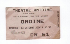 Théâtre Antoine -  a ticket of theater