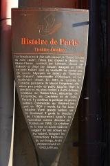 Théâtre Antoine - Deutsch: Erklärungstafel zum Théâtre Antoine, 14, Boulevard de Strasbourg im 10. Arrondissement von Paris