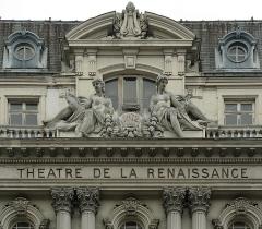 Théâtre de la Renaissance - Français:   Fronton du théâtre de la Renaissance, Paris.