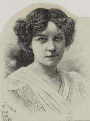 Théâtre de la Porte-Saint-Martin - Français:   Jeanne Kerwich, actrice de théâtre, La distributrice, lors de la première de Cyrano de Bergerac en 1897