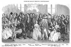 Théâtre de la Porte-Saint-Martin - Français:   Les acteurs du théâtre de la Porte-Saint-Martin, gravure d\'Eustache Lorsay (1822-1871) parue dans L\'Illustration volume 1846-1847.