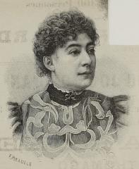 Théâtre de la Porte-Saint-Martin - Français:   Marguerite Esquilar, actrice de théâtre, Soeur Marthe, lors de la première de Cyrano de Bergerac en 1897