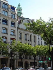 Immeuble - English: Art nouveau building, 7 avenue de la République, Paris 11, France. - General view