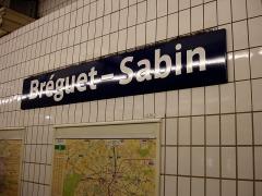 Métropolitain, station Bréguet-Sabin - Français:   La station Bréguet - Sabin de la ligne 5 du métro de Paris, France