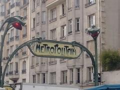 Métropolitain, station Bréguet-Sabin -  Entrée du métro Breguet-Sabin, par Hector Guimard