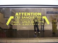 Métropolitain, station Ménilmontant -  Inscription dans le métro