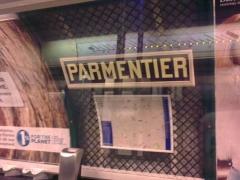 Métropolitain, station Parmentier - English: le design du station de metro Parmentier en Paris