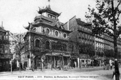 Ancien café-concert Le Bataclan -  Post card of theBataclan theater around 1900.