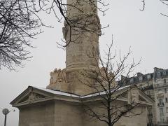Barrière du Trône - English: Base of the Southern column of the barrière du Trône, Paris 11th arr.