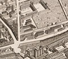Ancienne caserne des Mousquetaires Noirs, dans l'actuel Hôpital des Quinze-Vingts (Centre d'ophtalmologie) - French engraver