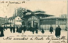Métropolitain, station Bastille - Français:   Carte postale ancienne sans mention d\'éditeur, n°171: PARIS - Une Gare du Métropolitain (Bastille)