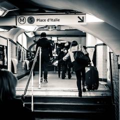 Métropolitain, station Bastille -  Métro Bastille, Paris.