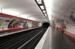 Métropolitain, station Daumesnil -  Quais de la station Daumesnil sur la ligne 6 du métro de Paris, vue en direction d'Étoile.