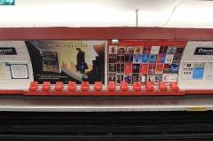 Métropolitain, station Daumesnil -  Quai Nation de la ligne 6 du métro de Paris.