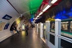 Métropolitain, station Nation -  Paris, France