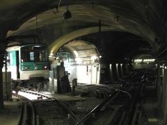 Métropolitain, station Nation -  Métro de Paris, Voies de garage, Station Nation (ligne 2), Paris, France