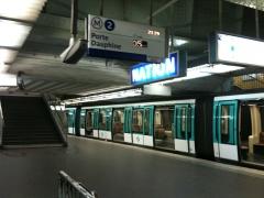 Métropolitain, station Nation - Français:   Quais de la ligne 2 du métro Nation à Paris