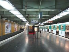 Métropolitain, station Nation -  Métro de Paris, Station Nation (ligne 2), Paris, France