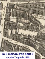 Maison - Français:   La maison d\'en haut en 1739