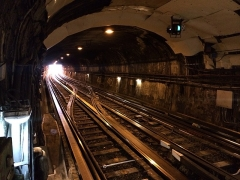 Métropolitain, station Place d'Italie -  Tunnel à place d'Italie - ligne 6