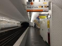 Métropolitain, station Saint-Marcel -  Ligne 5 - Quais Saint Marcel
