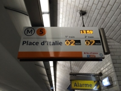 Métropolitain, station Saint-Marcel -  Ligne 5 - SIEL Saint Marcel