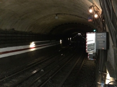 Métropolitain, station Saint-Marcel -  Ligne 5 - Tunnel Saint Marcel