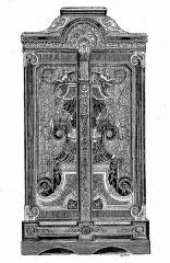Mobilier National - Français:   Armoire en ébène avec marqueterie d\'André-Charles Boulle, époque Louis XIV (mobilier de la couronne)