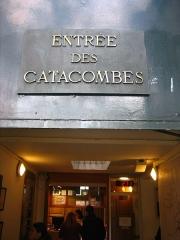 Barrière d'Enfer -  Entrée des Catacombes de Paris.
