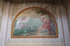 Eglise Notre-Dame-du-Travail -  Fresco @ Notre Dame du Travail @ Paris   Église Notre-Dame-du-Travail, 36 Rue Guilleminot, 75014 Paris, France.