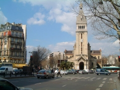 Eglise Saint-Pierre de Montrouge -  Photo perso du carrefour Alésia et l'église Saint-Pierre de Montrouge, centre du quartier du Petit-Montrouge, 75014 Paris,