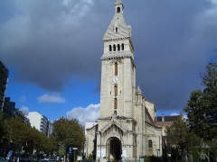 Eglise Saint-Pierre de Montrouge - English: Church Saint Pierre de Montrouge in Paris 14th arrondissement. In the beginning when the church was built this area was still a suburb called Montrouge. Much later it became part of Paris
