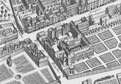 Hôpital Cochin (ancien noviciat des Capucins) - English: Abbaye de Port-Royal de Paris, 1739.