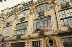Immeuble -  Facade, rue Campagne Première, Paris.