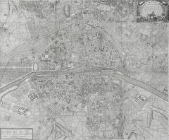 Cimetière Montparnasse - English: Map of Paris 1763 (Plan de la ville et fauxbourgs de Paris).