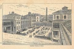 Institut Pasteur - Français:   L\'institut Pasteur de Paris & ses annexes: dessins vers 1900.
