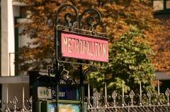 Métropolitain, station Pasteur -  Mat Nord-Sud à la station Pasteur du métro de Paris